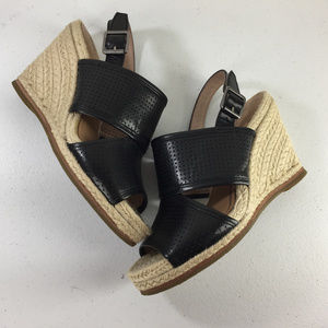Biala 39 Joyce'Perforated Espadrille Wedge Sandal